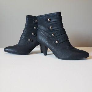 Women's black booties size 10